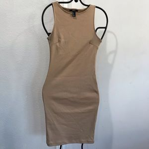 Forever 21 dress tan small fitted